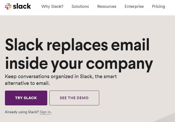 Slack UX copy