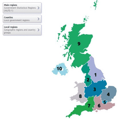 Respondents in the UK for product testing