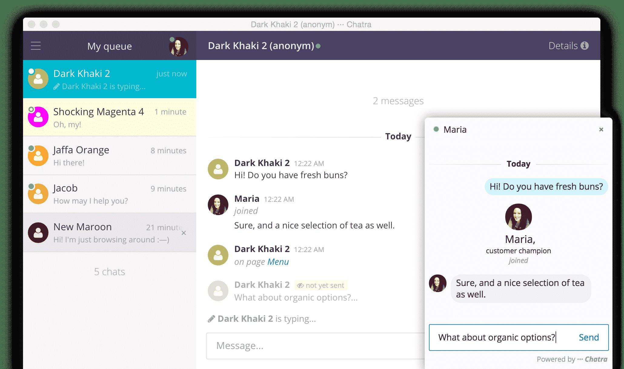 Chatra dashboard