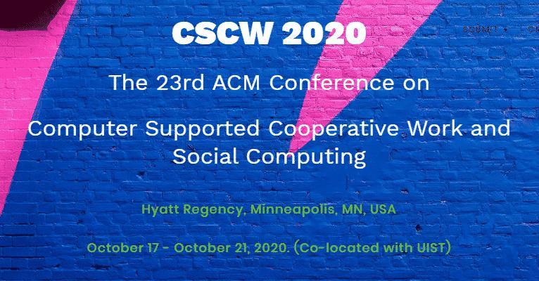 CSCW 2020