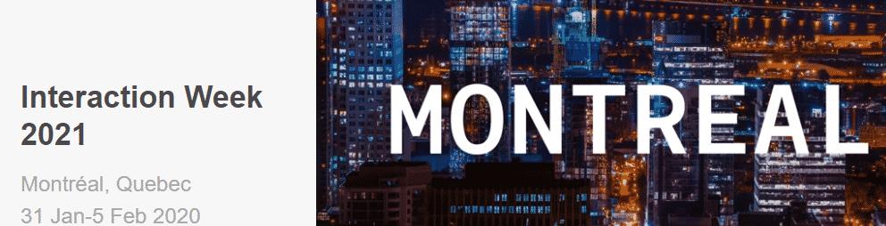 Interaction Week – Montreal