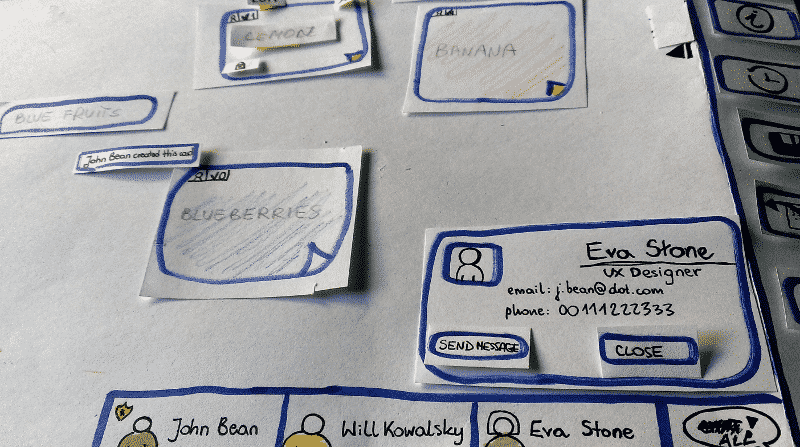 An example of paper prototyping