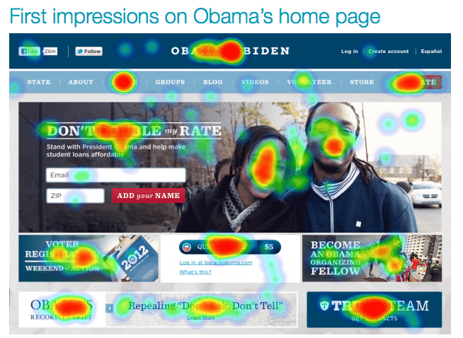 User Experience Report The 2012 Presidential Candidates Home Pages
