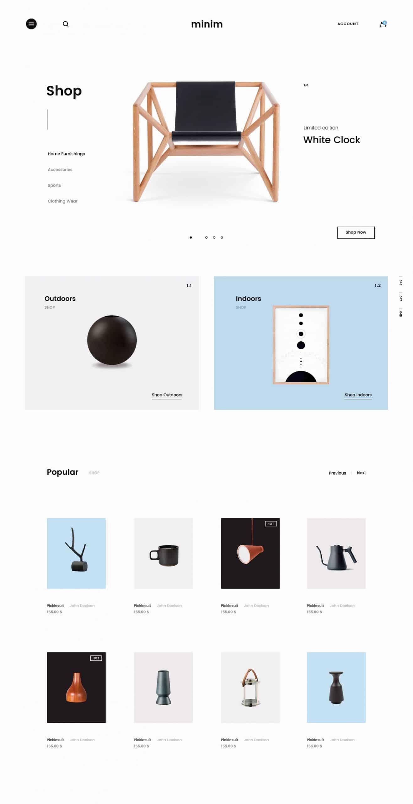 Minimalist Design UX