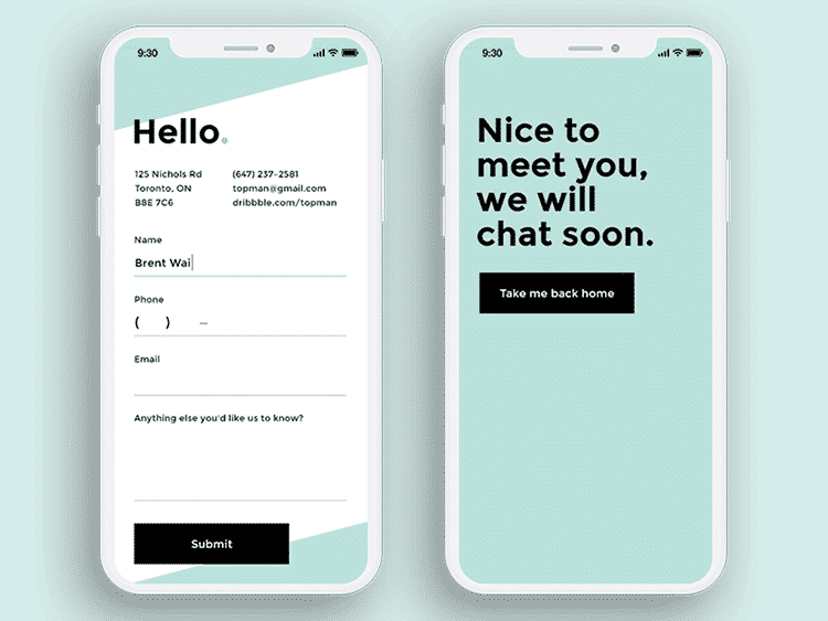 Mobile design UX