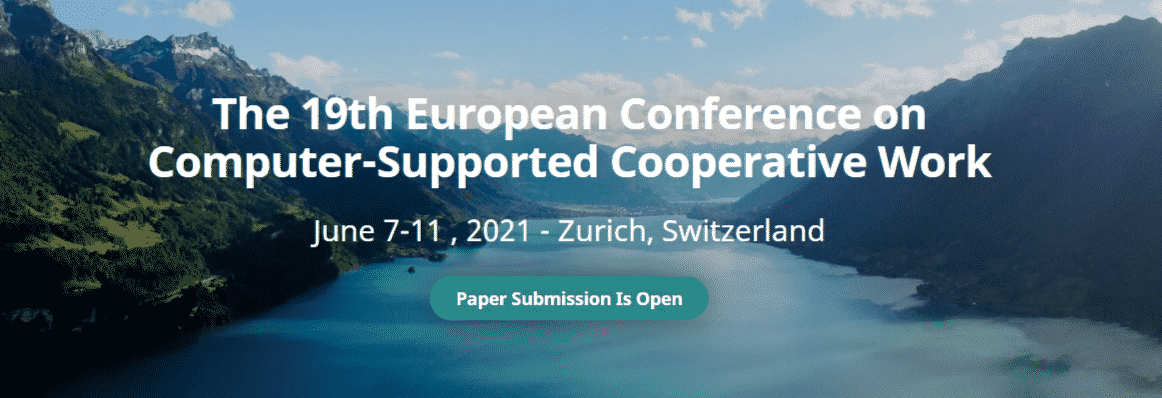 19th European Conference on Computer-Supported Cooperative Work ( ECSCW 2021 )