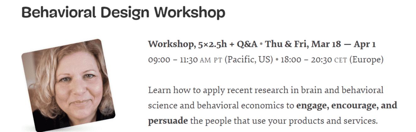Behavioral Design Workshop