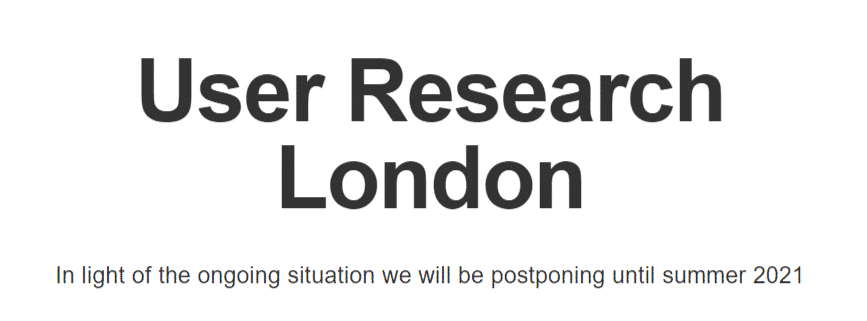 User Research London 2021