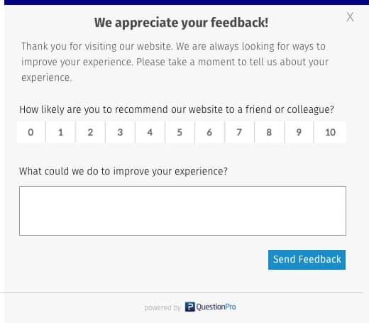 How can we make your experience better NPS