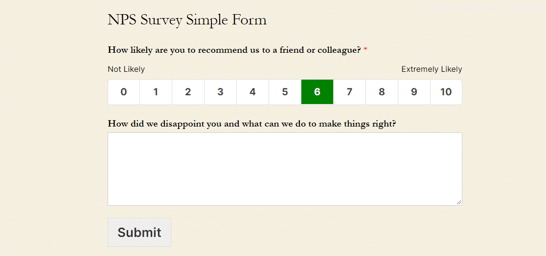 What is the reason for your score NPS