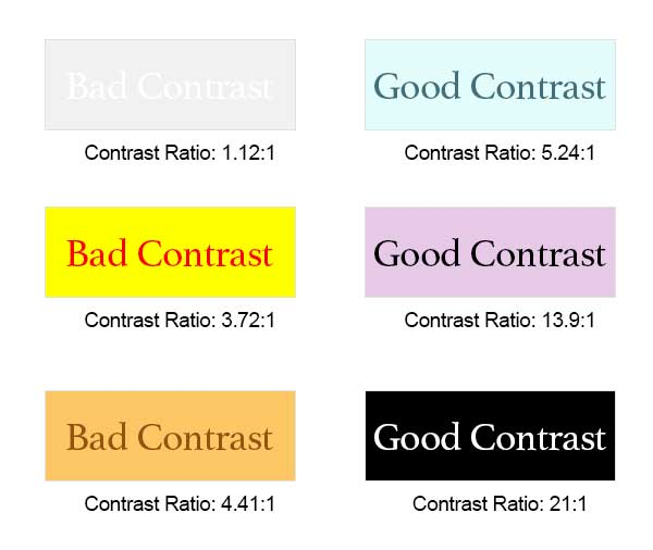 UX accessibility- color contrast