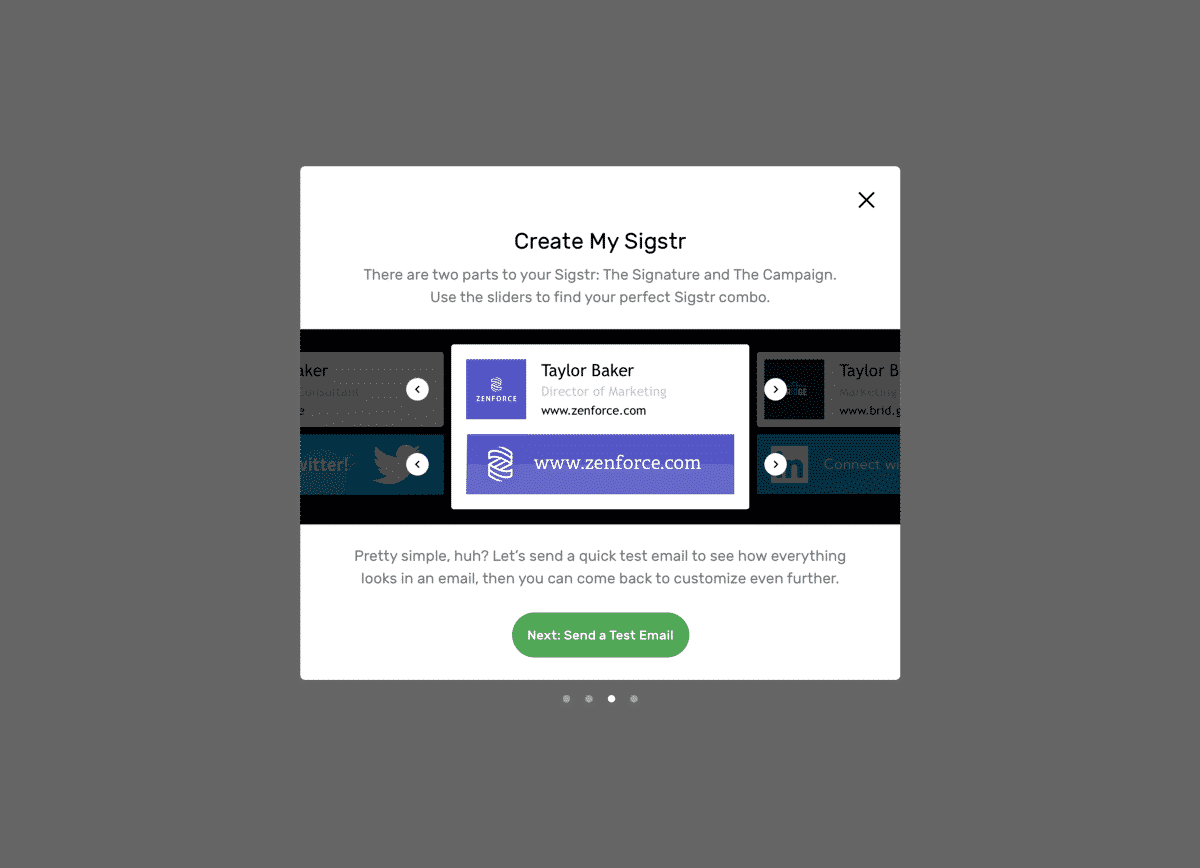 New feature onboarding